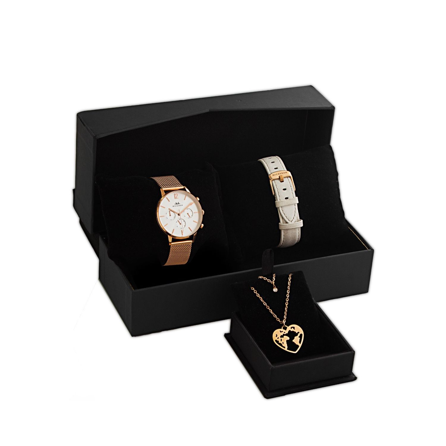 CANDRA WHITE & LOVE CHARM GIFT SET